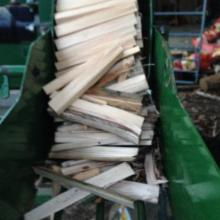 Kindling ready to be bagged for delivery