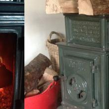 "Jotul Burner takes 24"" logs"